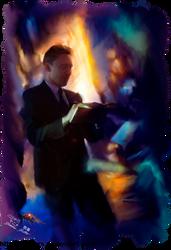 Tom Hiddleston oil effect