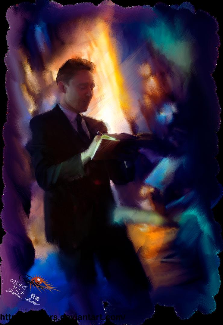 Tom Hiddleston oil effect by Erkillers