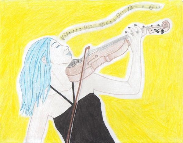Spring Violinist by Neko-Priestess