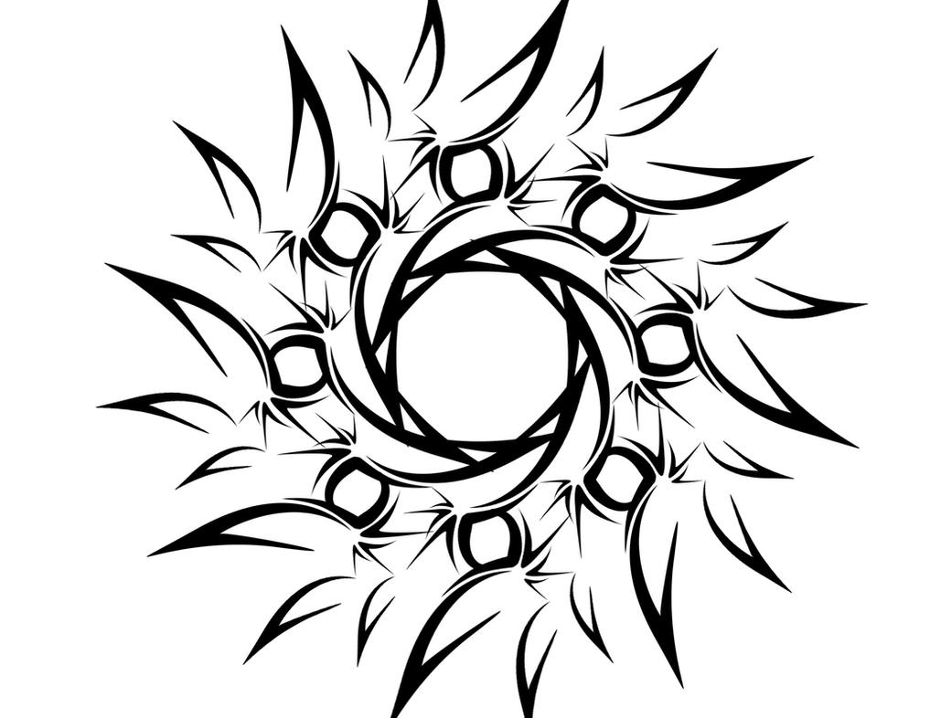 Tribal Flower or Sun Tattoo by deadlygoalie83Simple Tribal Flower Tattoos
