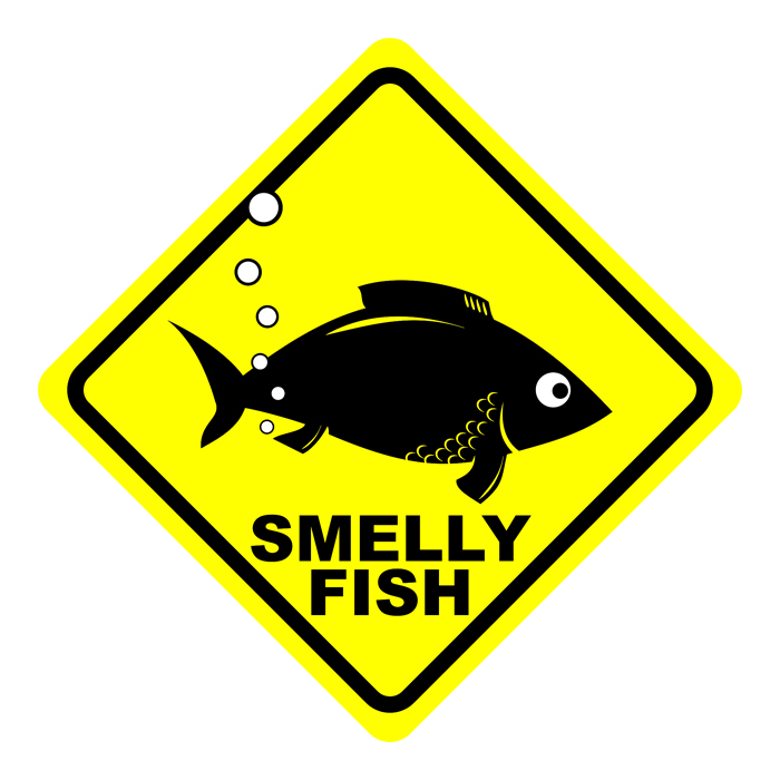 Smelly fish sign by cepums on deviantart for Fish tank stinks
