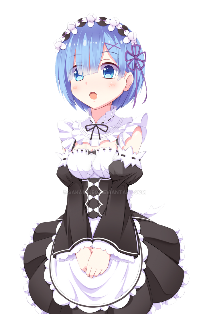 Render anime rem re zero by sakamileo