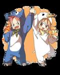 [ Render Anime ] Fairy Tail - Nalu Chibi