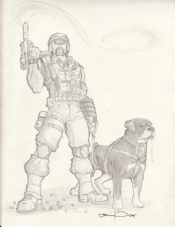 Mutt $ Junkyard Sketch by Wry1