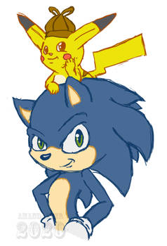 Movie Sonic and Detective Pikachu