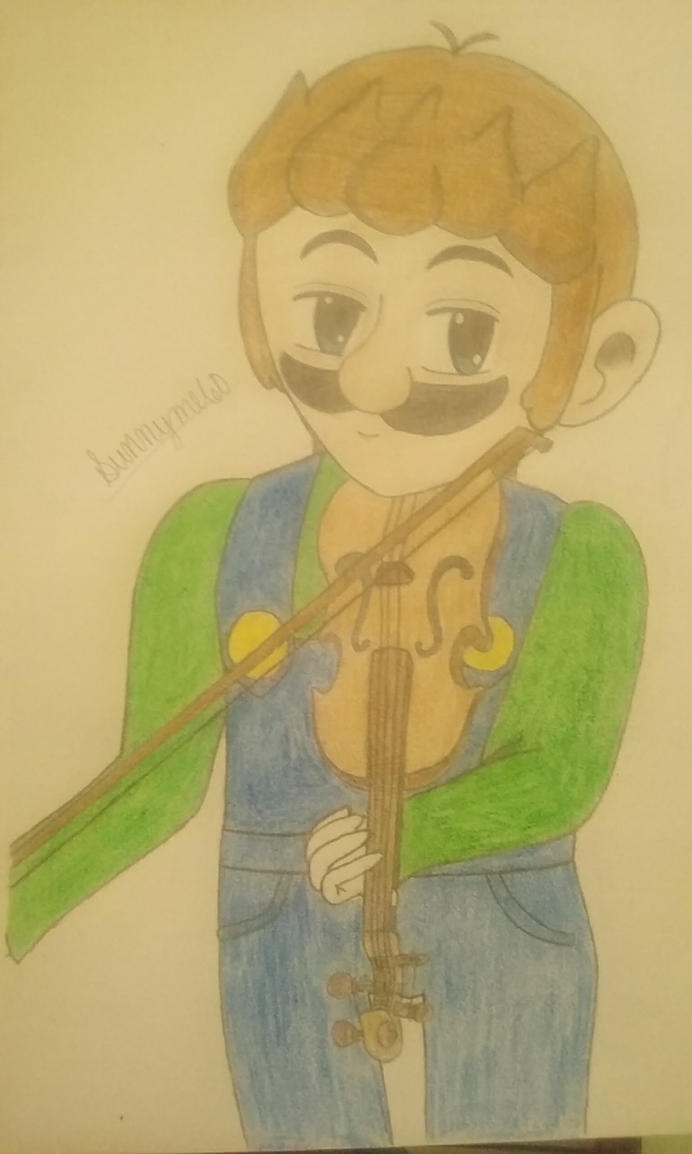 .: Violinist Luigi :. by EternityTsubasa