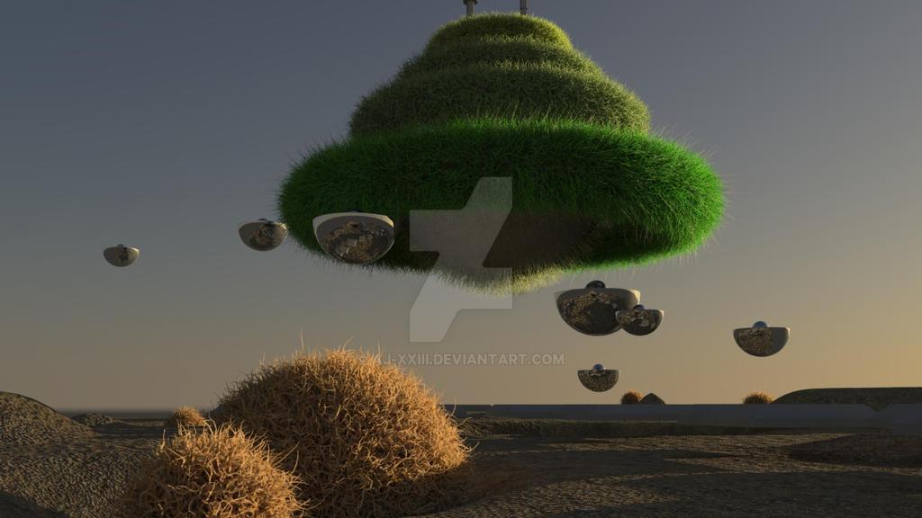 Futuristic Garden ( angle shot) by AJ-XXIII