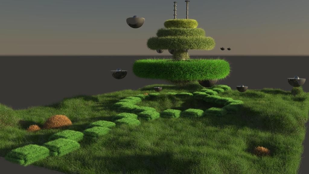 Futuristic Garden by AJ-XXIII