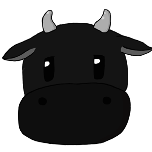 Harvest Moon Cow - Black by PieFeathers