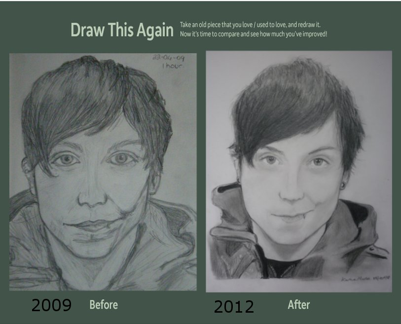 Draw this again challenge - Frank Iero by mychemplan
