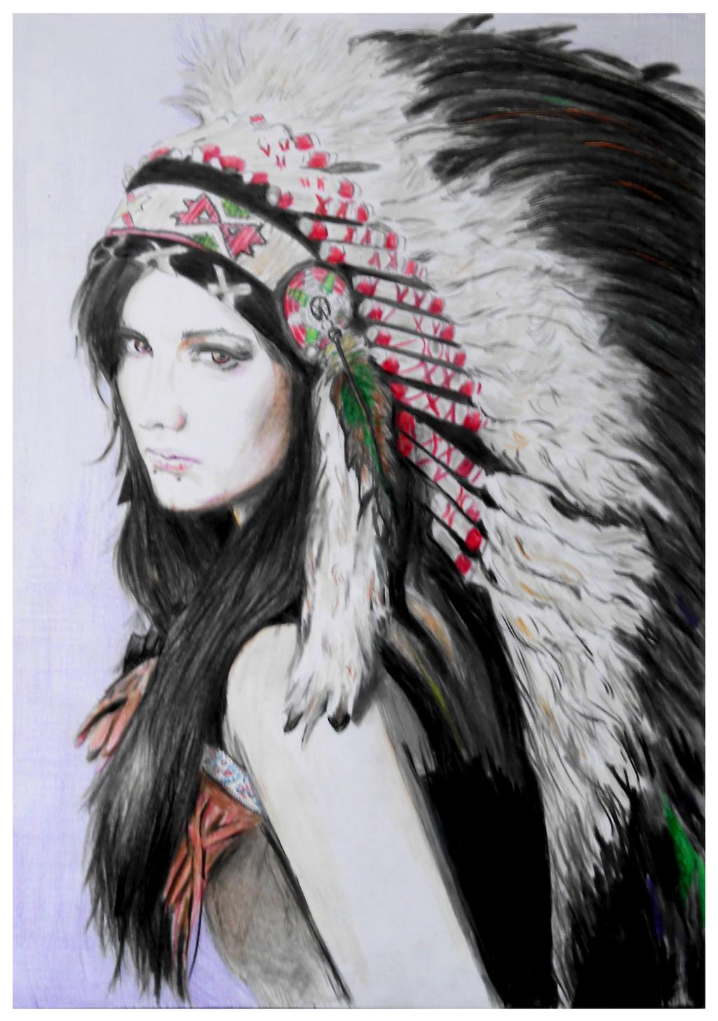 Native American girl by mychemplan on DeviantArt