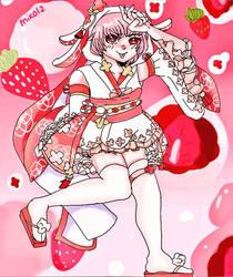 Food Fantasy Fanart: Strawberry Daifuku by miko-twelve