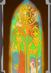 Israphel Amos picture- stain glass (wip) by miko-twelve