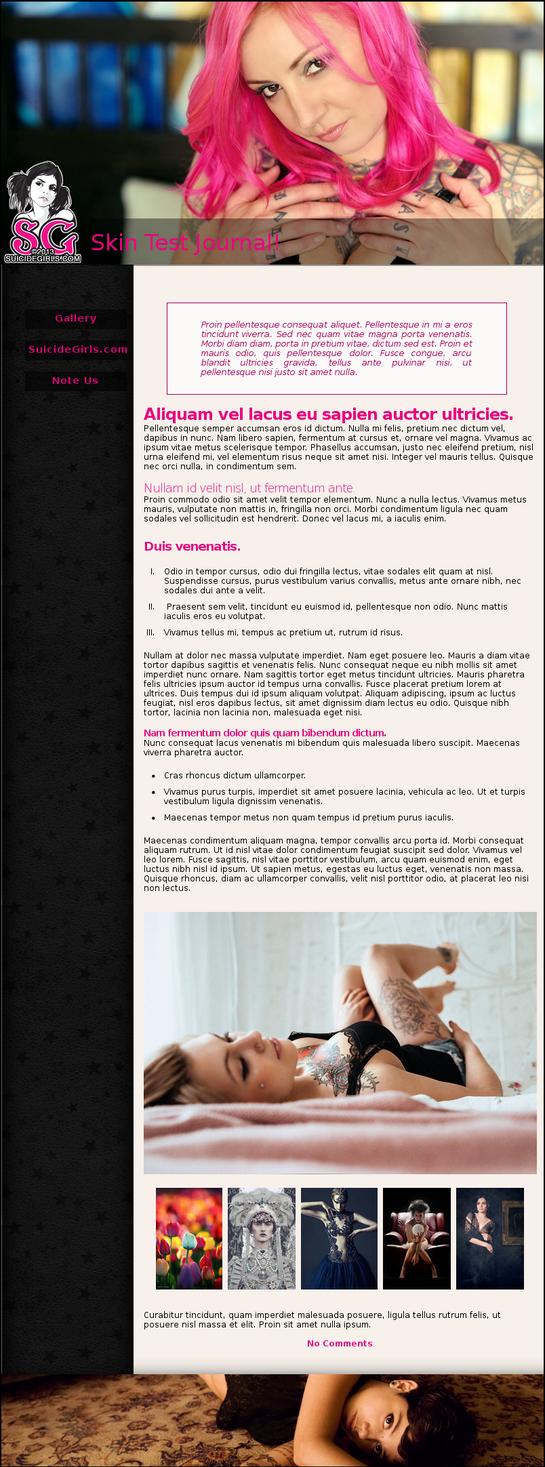 SuicideGirls CSS design by akio-stock