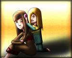 Between girls (between little sisters)