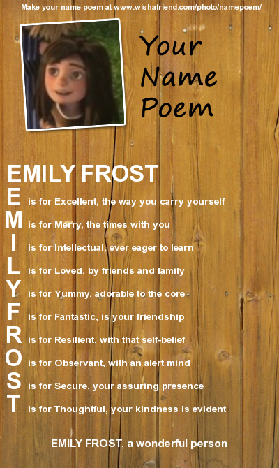 Thats Why I Love The Name Emily By LordBlackTiger666