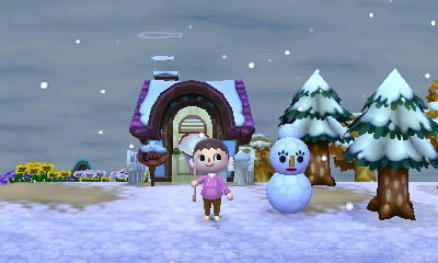 how to make a snowman in animal crossing new leaf