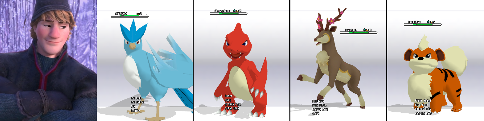 Crossover Frozen-PKMN - Kristoff's team by JackFrostOverland