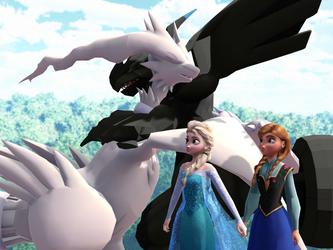 MMD Frozen-PKMN - Hug between brothers by LordBlackTiger666