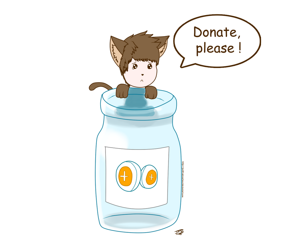 Please, donate ! by JackFrostOverland