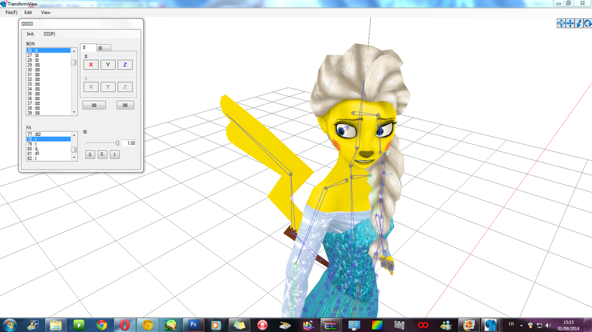 WIP-Elsa- What happens to me ?-Anthro/Were Pikachu by JackFrostOverland