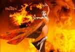 Wallpaper - Frozen - Anna the Fire Princess
