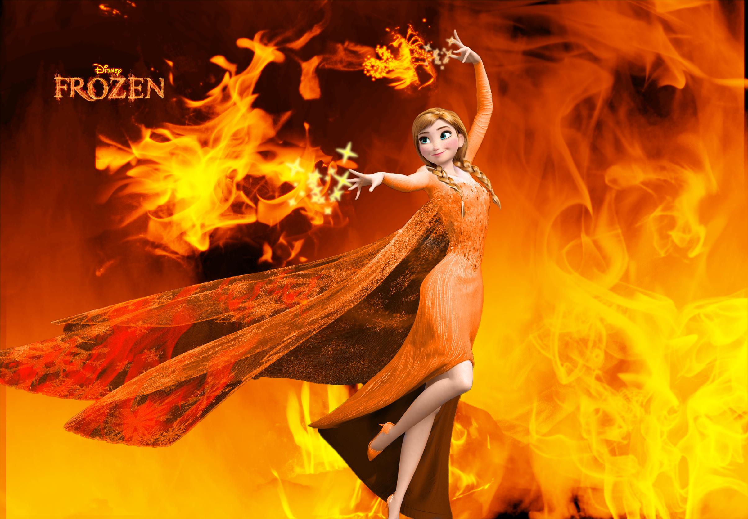 Wallpaper - Frozen - Anna the Fire Princess by ...