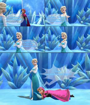 MMD Frozen Comic - Anna - Please come back !!!!