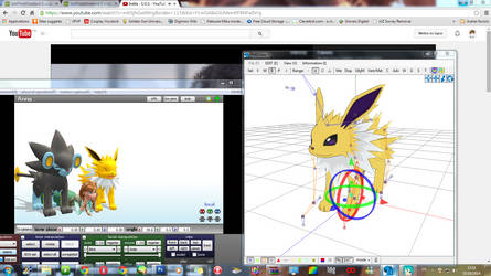 WIP - MMD - Jolteon's turn to be update to XY by LordBlackTiger666