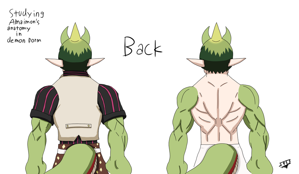 Studying Amaimon\'s anatomy in demon form - Back by LordBlackTiger666 ...