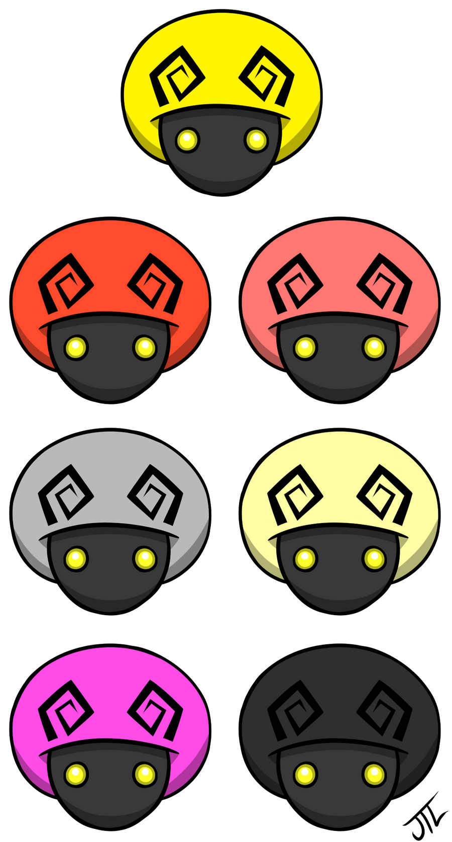 Kingdom Hearts Mushroom Symbols By Entermeun On Deviantart