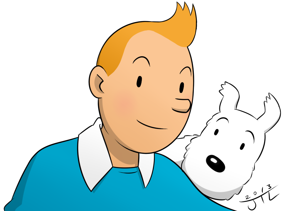 Adventures Of TinTin - TinTin and Snowy by EnterMEUN