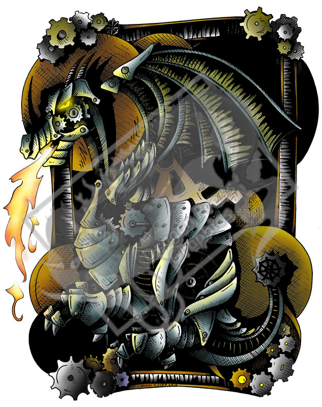 ClockWork Fantasy Dragon Color by DragonPress