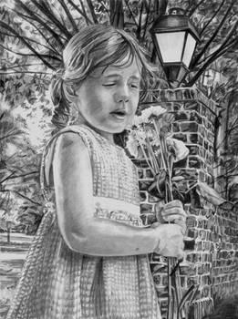 Planting Feilds Portrait in Pencil