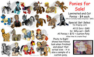 Pony Collections for Sale by DragonPress