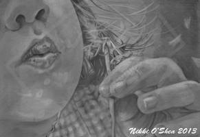 Blowing Wishes Graphite Portrait