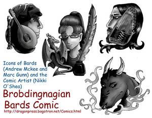 Bard Comic Icons