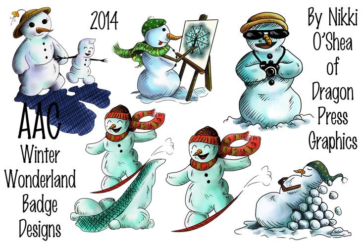 AAC Winter Wonderland Badge Collage by DragonPress