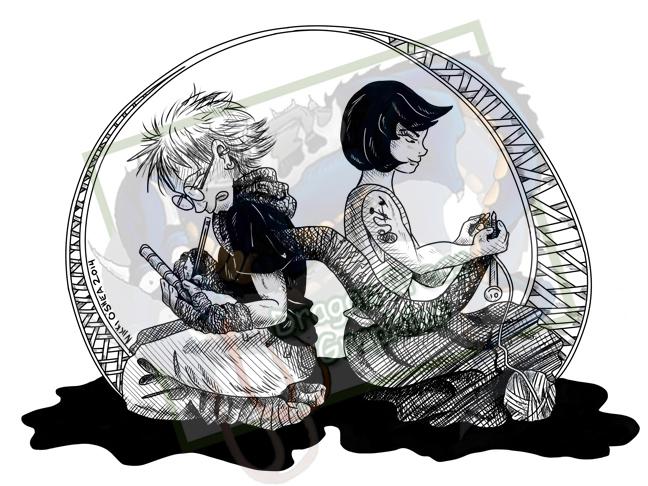 Knitting Artists by DragonPress