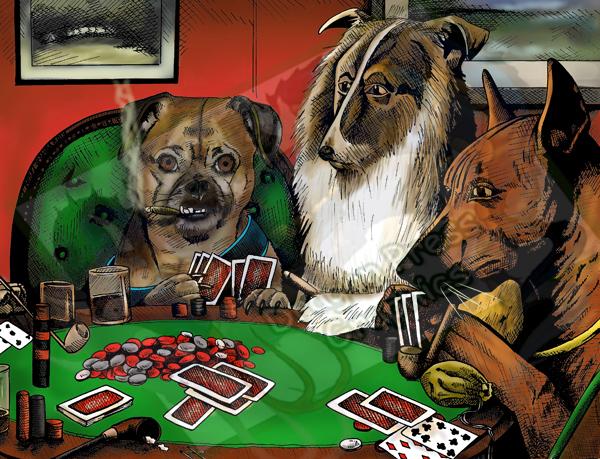 Poker Dog Commission by DragonPress