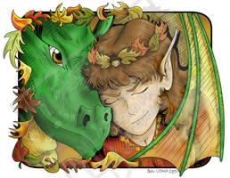 Autumn Elf and Dragon