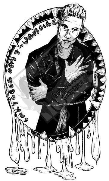 Inktober Day 4 - Vampire by DragonPress