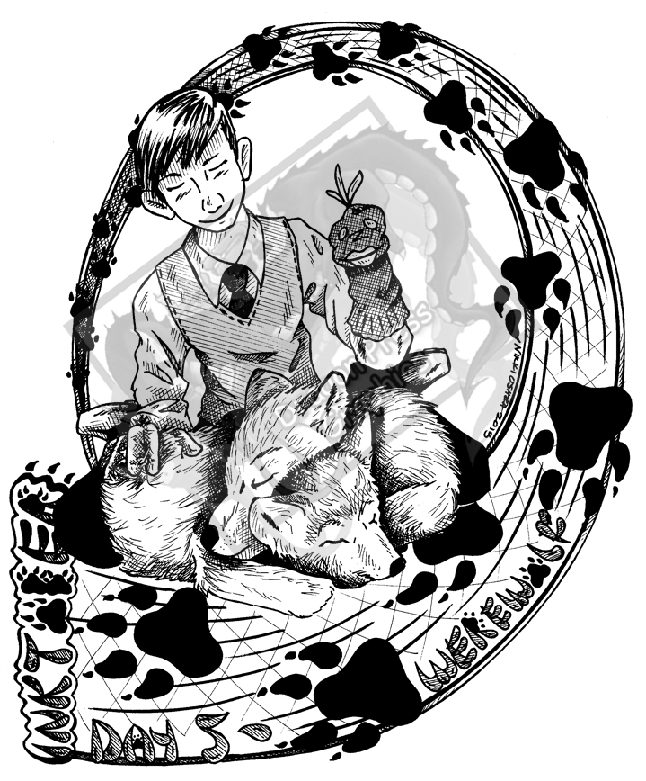 Inktober Day 5 - Werewolf by DragonPress