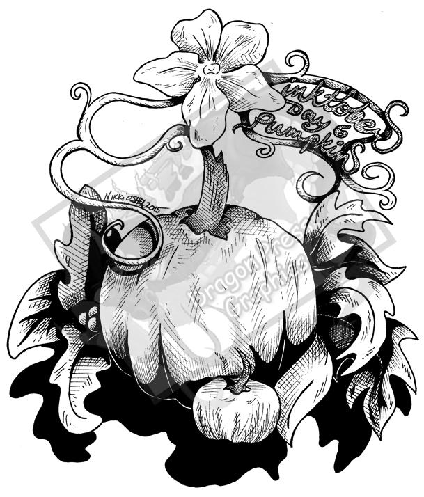 Inktober Day 6 - Pumpkins by DragonPress