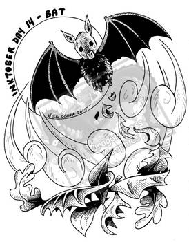 Inktober Day 14 - Bat