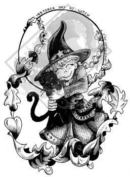 Inktober Day 27 - Witch