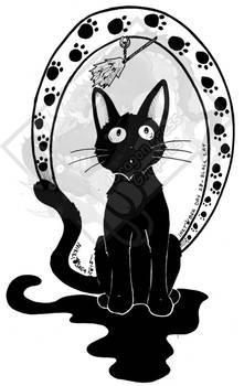 Inktober Day 28 - Black Cat (Gigi!)