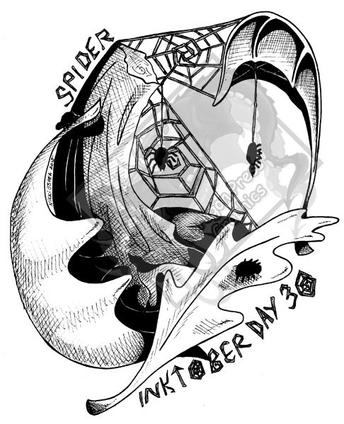 Inktober Day 30 - Spider by DragonPress