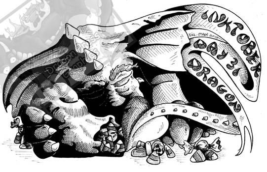 Inktober Day 31 - Dragon