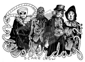Inktober Day 29 - Scarecrows